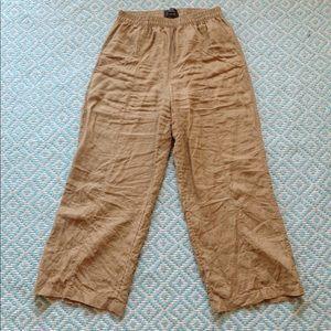 Tahari 100% linen pants